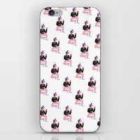 rockabilly iPhone & iPod Skins featuring Rockabilly Wolf by Aurore