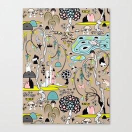 Magical Garden (Beige) Canvas Print