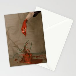 Rootless. Red hand Stationery Cards