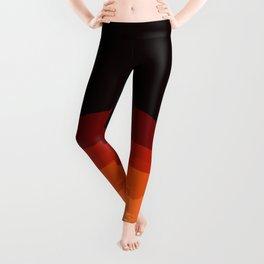 Dark Orange Ombre Leggings