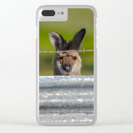 Can I come in? Clear iPhone Case