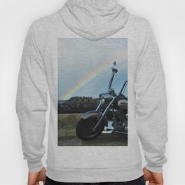 Motorcycle At The End Of The Rainbow Hoody