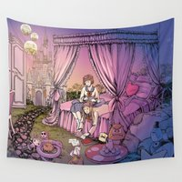fairy tale Wall Tapestries featuring Fairy Tale by Katie Badenhorst