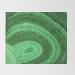 Green Agate Throw Blanket