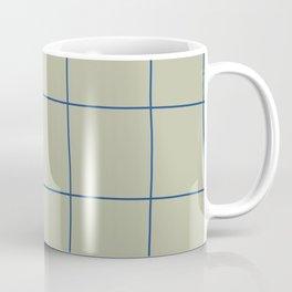 Simple Grid Green Blue Coffee Mug