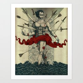 Wounded (Version 2) Art Print
