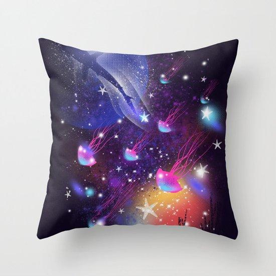Cosmic Sea Throw Pillow