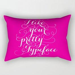 Pretty Typeface. Rectangular Pillow