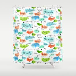 Family - Watercolor Shower Curtain