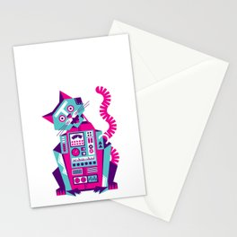 Robot Cat Stationery Cards