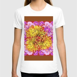 Abstracted Yellow Chrysanthemums Floral & Orchids T-shirt