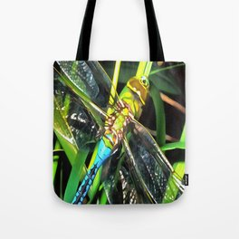 Blue Dragonfly Wings Tote Bag