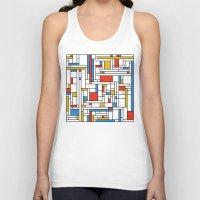 fibonacci Tank Tops featuring Mondrian meets Fibonacci by Studio Fibonacci