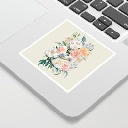 Bouquet With Roses Sticker