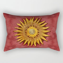 """""""Aztec Sun and pickled coral"""" Rectangular Pillow"""