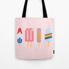 Popsicle - Four Pack Pink #267 Tote Bag