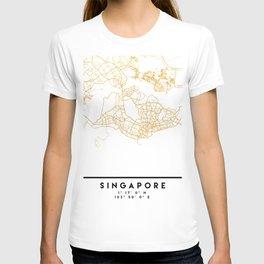 SINGAPORE CITY STREET MAP ART T-shirt