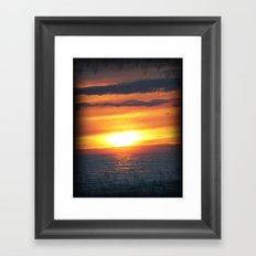 UP Sunset Framed Art Print