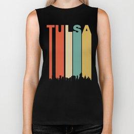 Retro 1970's Tulsa Oklahoma Cityscape Downtown Skyline Biker Tank