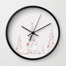 Snowflake Trees Wall Clock