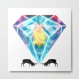 Deer Family Print Metal Print