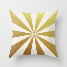 gold starburst Throw Pillow