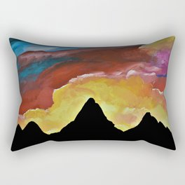 Everest Silhouette - Abstract Sky Oil Painting Rectangular Pillow