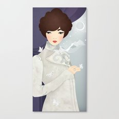 The Wings of the Dove: Violet Canvas Print