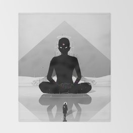 Inner Shadow Throw Blanket