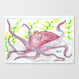Giant Pacific Octopus Canvas Print