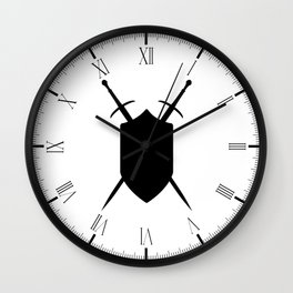 Crossed Swords Silhouette Wall Clock