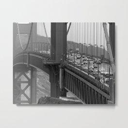 Golden Gate bridge at San Francisco [B&W] Metal Print