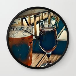 Drinks are on Me Wall Clock