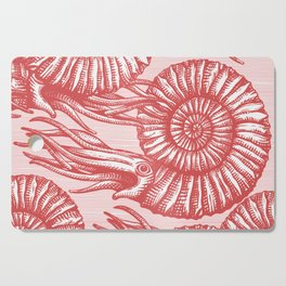AMMONITE COLLECTION RED Cutting Board