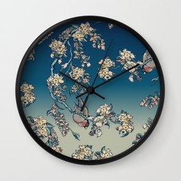 Bullfinch and French Bulldog Cherry Wall Clock