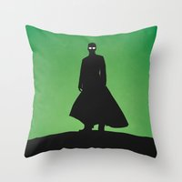 matrix Throw Pillows featuring Matrix by Nick Kemp