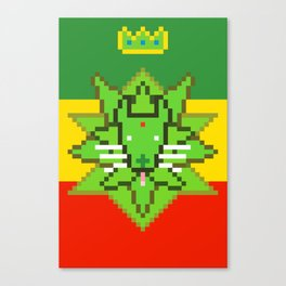 GREEN LION Canvas Print