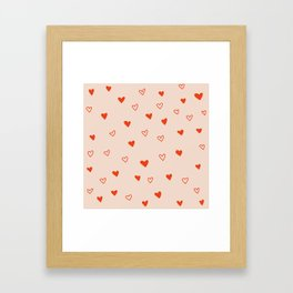 Dotty Hearts Framed Art Print