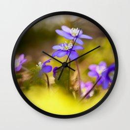 Wildflowers Spring Forest #decor #society6 #buyart Wall Clock