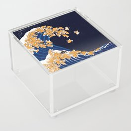 Shiba Inu The Great Wave in Night Acrylic Box