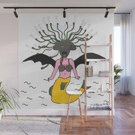 Fury mermaid Wall Mural