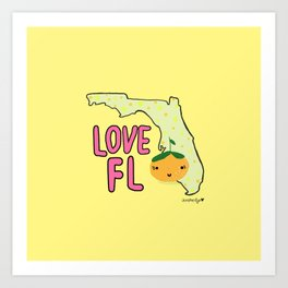 Love, Florida Art Print