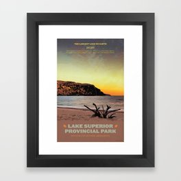 Lake Superior Provincial Park Framed Art Print