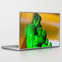 superhero Laptop & iPad Skins featuring Superhero Dad by Imagination Framed