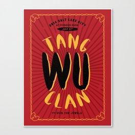 Wu Tang Clan Gig Poster Canvas Print