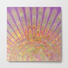 Happy Morning Mandala Metal Print