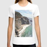 big sur T-shirts featuring Big Sur Bridge by The Aerial Photography Shop