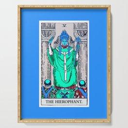 5. The Hierophant- Neon Dreams Tarot Serving Tray