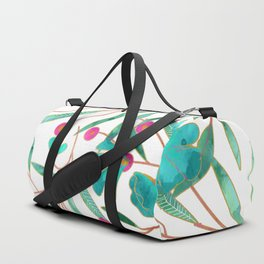 Turquoise Floral Duffle Bag