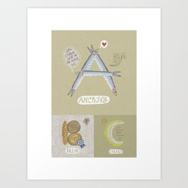 Anchovy ABC Art Print